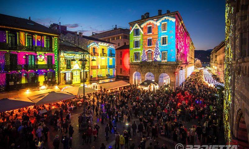 Proiezioni a tema natalizio - Como Magic Light Festival