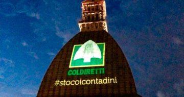 Proiezione logo Coldiretti Mole di Torino