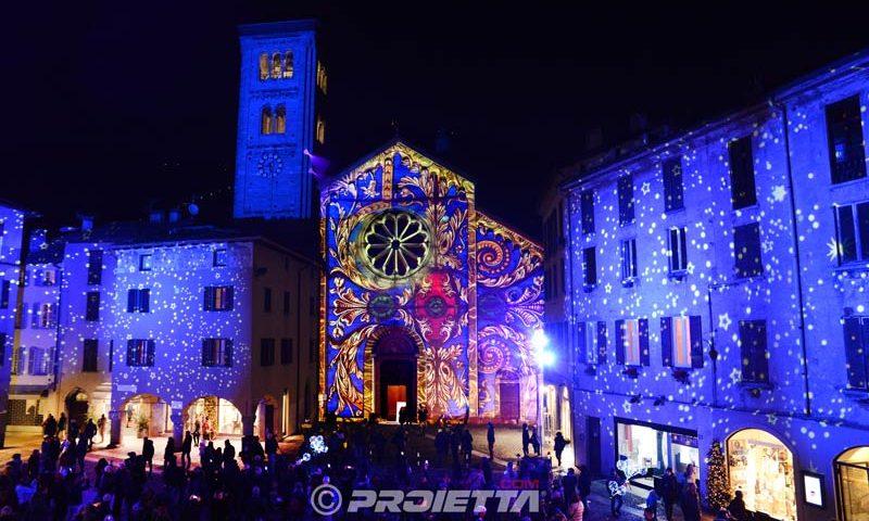 Chiesa di S. Fedele - Video mapping Natalizio Como Magic Light Festival