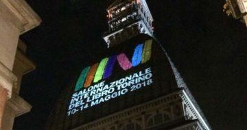 Fiera del libro di Torino proiezione del logo ufficiale