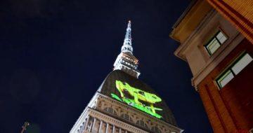 Cinema Ambiente videoproiezione sulla Mole di Torino