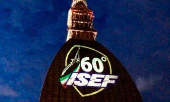 Proiezione logo isef mole di Torino