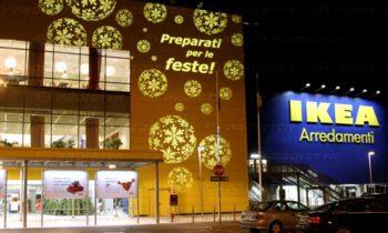 Proiezioni Natalizie per centri commerciali - Ikea Arredamenti