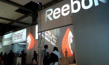 Proiezioni per Reebok fiera del fitness