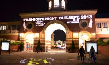 Serravalle Outlet Village Fashion Night proiezioni scenografiche pubblicitarie