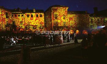 Proiezioni decorative pittoriche a tema medievale