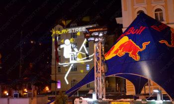 Red Bull Play Street proiezioni pubblicitarie