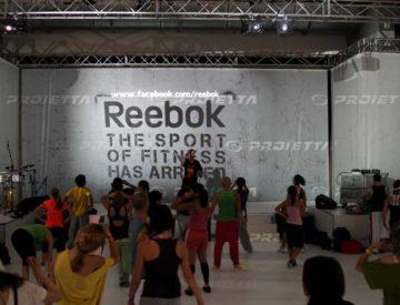 Proiettori da interno per REEBOK fiera del Fitness