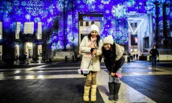 Proiezioni natalizie Stazione di Milano Centrale