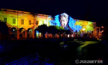 Proiezione ritratto Giorgio Oprandi a Lovere