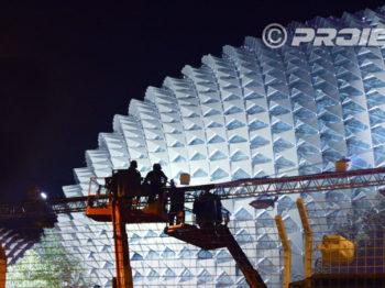 Illuminazione architetturale dell' Esplanade di Singapore