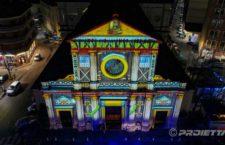 Video mapping sulla chiesa di Giaveno