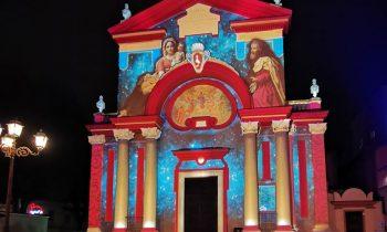 Chiesa di Grugliasco proiezione mappata