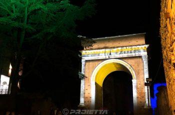 Arco di Augusto a Susa - proiezione mappata